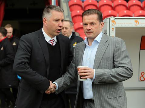 Graham Westley and Darren Ferguson pre match