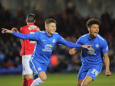 Harry Beautyman and Lee Angol celebrate goal number 3 v Coventry