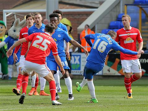 Harry Beautyman opens the scoring for Posh v Crewe 2
