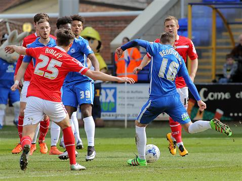 Harry Beautyman opens the scoring for Posh v Crewe