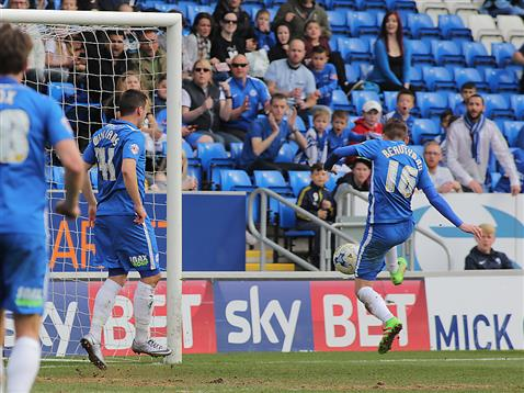 Harry Beautyman taps in goal 2 for Posh v Crewe