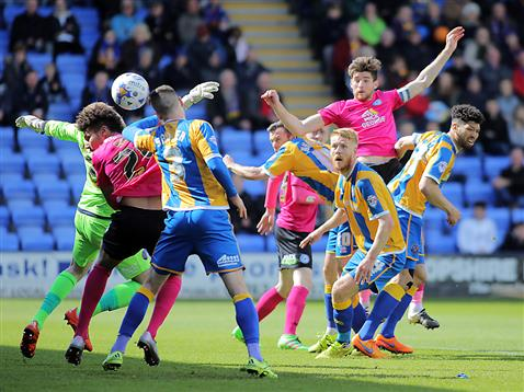 Jack Baldwin scores his first ever goal for Posh v Shrewsbury 3