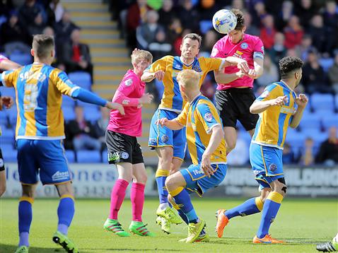 Jack Baldwin scores his first ever goal for Posh v Shrewsbury