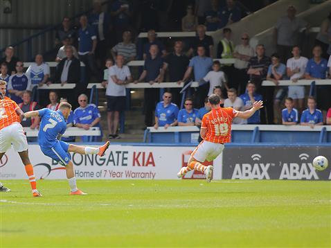 Jon Taylor fires home v Blackpool