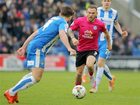Jon Taylor on another run v Colchester