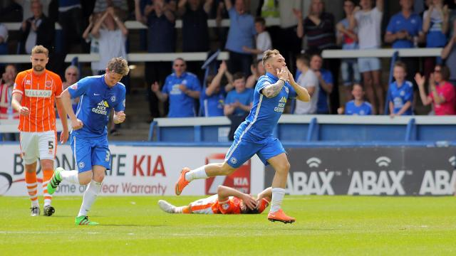 Jon Taylor scores again v Blackpool