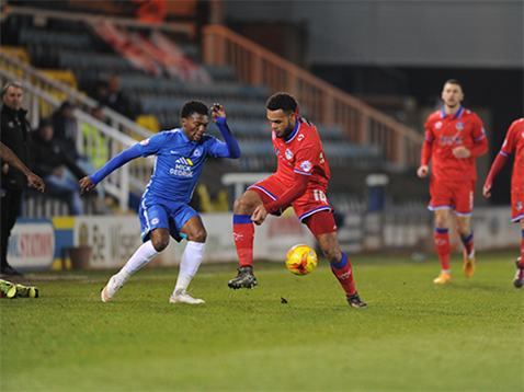 Kgosi Ntlhe struggled defensively v Oldham