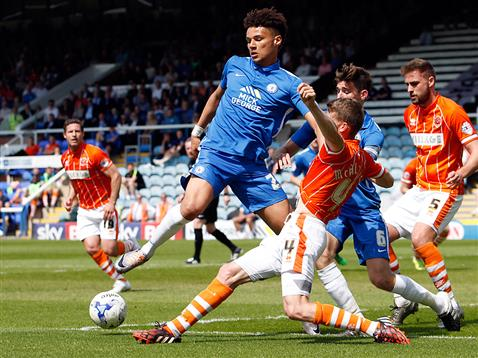 Lee Angol and Jack Baldwin v Blackpool