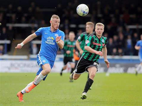 Marcus Maddison on the run v Rochdale