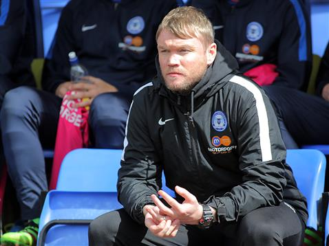 Temporary Manager Grant McCann oversees his Posh side beat Shrewsbury
