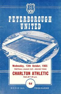 13-Oct-1965 - Posh 4-3 Charlton - League Cup R3 - programme