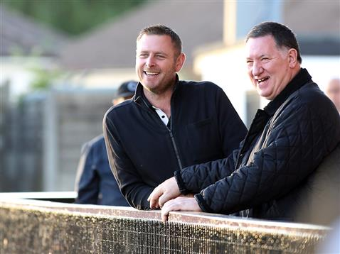 Darragh MacAnthony and Bob Sims at Boreham Wood