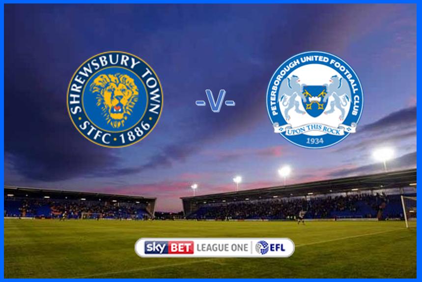 Shrewsbury v Posh - Sky Bet EFL L1