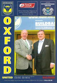 25-Mar-2006 - Oxford 1-0 Posh - programme