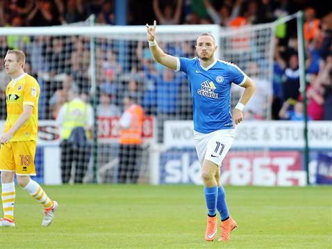 Marcus Maddison celebrates the opening goal v Millwall