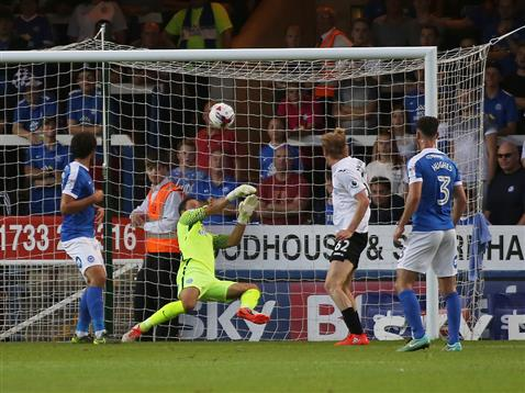 Mark Tyler concedes the first Swansea goal watched by Michael Bostwick and Andrew Hughes
