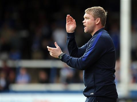 grant-mccann-encourages-his-side-v-walsall