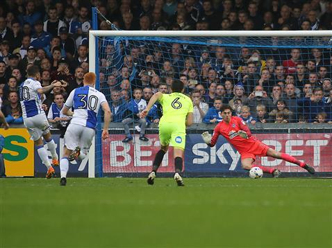 luke-mcgee-concedes-a-penalty-to-bristol-rovers-matty-taylor