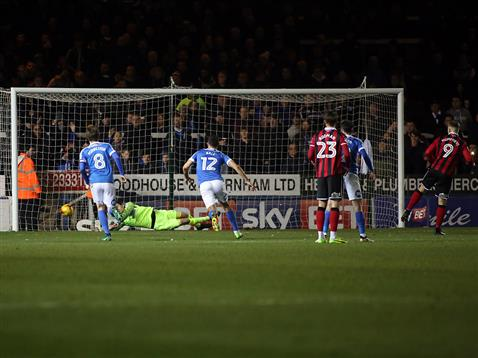 luke-mcgee-just-fails-to-stop-conceding-a-penalty-v-shrewsbury
