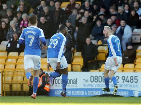 marcus-maddison-jerome-binnom-williams-and-gwion-edwards-celebrate-scoring-v-port-vale