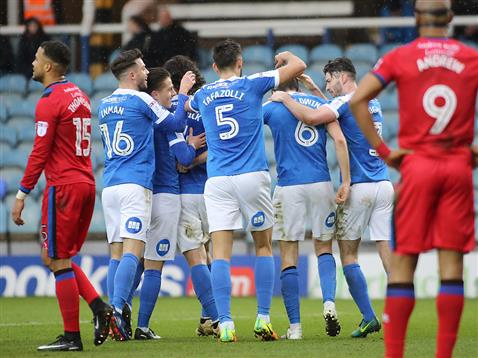 posh-players-congratulate-jack-baldwin-v-rochdale